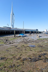 Portsmouth . (:: Blende 22 ::) Tags: uk greatbritain unitedkingdom harbour bluesky hampshire portsmouth spinnakertower sunnyday canoneos5dmarkii grosbritannien royal ef2470f28liiusm dockyard