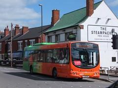 trent barton 727 Swanwick (Guy Arab UF) Tags: bus buses eclipse volvo derbyshire group trent mango barton wright 727 swanwick the steampacket b7rle wellglade wellgladegroup fj08whs