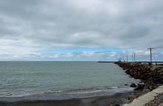 Blue Skys Ahead (Jocey K) Tags: sea newzealand sky beach water clouds wharf southisland otago oamaru triptoanzacblipmeet