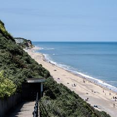 Beach Walk (glennk2611) Tags: sun abstract beach birds children pier seaside sand waves norfolk leafs cromer