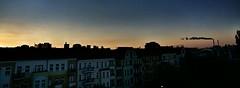 Sonnenaufgang über den Dächern von Friedrichshain