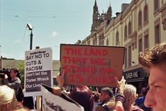 Anti Austerity March (Walt Jabsco) Tags: pentax kodak political protest cardiff boom pentaxk1000 socialism leftwing generalelection kodakcolourplus fuckthetories antiausterity cardiffpeoplesassembly