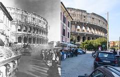 5 giugno 1944 - http://bit.ly/1IpJjXh (Roma Ieri Oggi) Tags: old rome roma foto layers merge rephotography vecchie nuove sovrapposizione viasangiovanniinlaterano romaierioggi