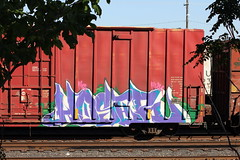 06072015 026 (CONSTRUCTIVE DESTRUCTION) Tags: train graffiti streak tag boxcar graff piece nr hoser moniker