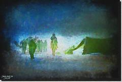 DESERT LIFE-2 (jawadn_99) Tags: explore picnik supershot scout poster photography photographer kuwait interestingness flickr favorite blue art abigfave bedouin desert camel white ship textile designe animal profile kuwaitartphoto kuwaitart kuwaitphoto artphoto desetlife tent horses men woman bedouinlife