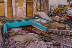 _DSC3858 (Simply Angle) Tags: wood city tractor building brick demolish outdoors town washington sony equipment business damage torn resturant damaged demolished a7 a7ii chewelahwa sonyphotographing sonyphotography sonya7ii ilce7m2 sel50f18f demaging