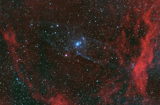 Sh2-129 and Ou4 - The Bat and Giant Squid Nebulas (Explored)