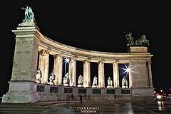 Plaza de los Heroes (Stauromel) Tags: plaza skyline arquitectura budapest escultura nocturna heroes hungria melilla andrassy canon1dmarkii stauromel alquimiadigital hsktere