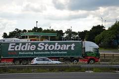 Eddie Stobart 'Rebekah Naomi Clare' (stavioni) Tags: eddie stobart truck trailer lorry esl m1 rebekah naomi clare h2462 po65vaa