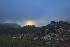 Area Negra de Teixidelo, A Corua (The Pumpkin Theory) Tags: corua galicia espaa spain europa europe landscape paisaje nublado cloudy sunset atardecer twilight fog niebla grey gris meadow prado rocas rocks cold frio ngc hdr sea coast mar costa