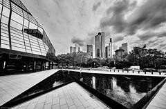 Frankfurt b&w 3 (rainerneumann831) Tags: frankfurt architektur blackwhite linien deutschebank