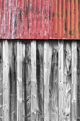 Red Top (mcb photography) Tags: rust weathered wood crack cracked splintered aged decay corrugated tin shed barn mikebarber mcbphotography wwwmcbphotographycouk torridon scotland