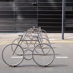 the MAD peloton (dan.boss) Tags: sculpture oslo barcode bjrvika bikestands madarkitekter madpeloton