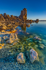 Morning has arrived (ScorpioOnSUP) Tags: california monolake southtufa battleship bluesky desert lake landscape landscapephotography mountainline reflections rockformations rocks salt sky sun sunrise sunriseglow water