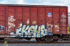 (o texano) Tags: houston texas graffiti trains freights bench benching ikews