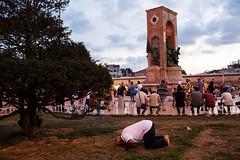 Taksim Square prayer - Istanbul, Turkey (Maciej Dakowicz) Tags: street turkey muslim islam prayer istanbul salat taksim namaz taksimsquare