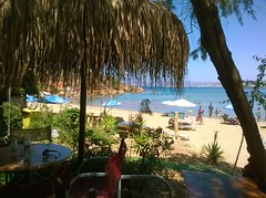 Lazy Noon... (JoannaRB2009) Tags: caf beach view nature holiday sunny crete greece sea colors landscape