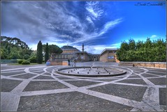 piazzale Moschea Roma (bruto68) Tags: bruto68 nikon nikond300s nikon18200 roma rome romansky colore citta cielo color city hdr hrd hitspeed moschea