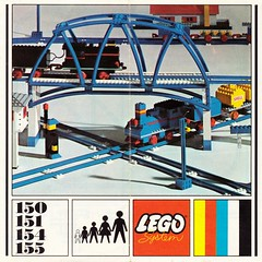 042 1969 Catalogue UK TRACK (GoodPlay2) Tags: 1968 1969 lego train layout track 45v blue railroad railway vintage 60s 70s 1960s 1970s old system classic retro set nostalgia