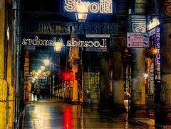 Signage (beelzebub2011) Tags: italy liguria genoa streets night lights