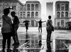 A Different Feeling (Petricor Photography) Tags: canonpersonalconnection candid rain raining black white blackandwhite street photography rainy italy milan milano
