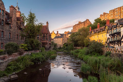Village Summer (duncan_mclean) Tags: summer houses landscape edinburgh deanvillage river city cityscape warm evening waterofleith architecture
