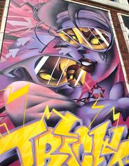 Blackpool Urban Art - 8 (Tony Worrall) Tags: blackpool resort place england english north northwest visit county town area northern location lancs lancashire uk fylde fyldecoast coastal tour ©2016 tony worrall country welovethenorth street urban streetart paint painted wall show urbanart daub made graffiti mural arty sandseaspray