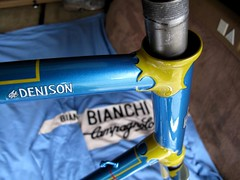 Denison Frame (6) (moonm) Tags: bikes uk 531 classic cycling frame lugs steel vintage