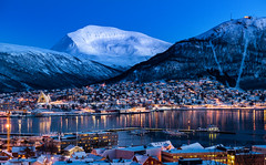 The Blue Moment (f64uk) Tags: norway tromso arctic twight bluemoment cityview icecathedral snow winter landscape