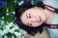 shino portrait (leemik) Tags: lomo 50mm f12 16kp1 swirly bokeh