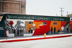 You Cannot Oppress the People, El Sereno, Los Angeles (EM Kalifornia) Tags: elsereno losangeles 35mm colorfilm superia100 minoltahimaticaf2 streetphotography eastside cesarchavez mural streetart
