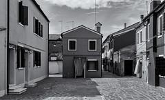 blue house (littletinperson) Tags: street blackandwhite bw bn monochrome italia italy veneto burano house candid monoburano bluehouse