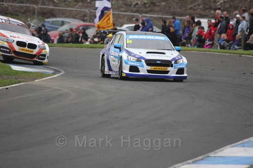 Jason Plato in race one during the BTCC weekend at Knockhill, August 2016