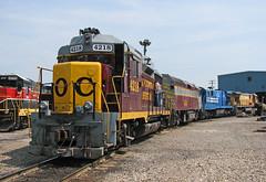 The good ole Mixed OC (GLC 392) Tags: super 7 b237s ohcr nicr 4094 ohio central railroad railway train ge emd new castel industrial 4218 gp30 gp30m c307 7137 531 460 system conrail morgan run shops oh f40m2c
