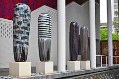 """Jun Kaneko: """"Dango"""" (1) (Ian E. Abbott) Tags: ceramic ceramics honolulu artmuseum dango junkaneko glazedceramics honolulumuseumofart beretaniastreet honoluluartmuseum largescaleceramics"""