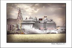 ROYAL PRINCESS MAIDEN VISIT.......... (Derek Hyamson) Tags: liverpool waterfront terminal hdr liner royalprincess