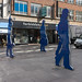 BLUE PEOPLE ON THEIR WAY TO THE VICTORIA SQUARE SHOPPING CENTRE REF-104824