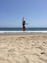Day 147 (boxbabe86) Tags: california motion beach santabarbara jump action may timer day147 2015 humantripod 365days 10secondtimer iphonography