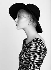 Savannah (bayek photography) Tags: bw london classic love beautiful beauty hat fashion studio model indoors simplicity blonde simple profoto fbloggers bestmodel savannahbrown bayek