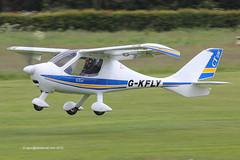 G-KFLY - 2007 build Flight Design CTSW, departing from Runway 27L at Barton (egcc) Tags: manchester ct barton microlight morton cityairport 8244 flightdesign ctsw egcb rotax912 pmaviation brutnell gkfly glfly