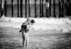 Venti04 (Macaroni Salad Productions) Tags: ocean california white black beach water swim pier paint ventura