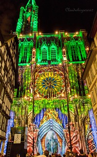 Strasbourg Cathedral - Colorful Lights 2