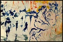 Bleu (Gramgroum) Tags: paris graffiti mural writers dessins atelier artiste portes xiii lesfrigos ouvertes