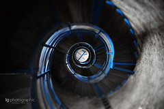 Stairs to the top (lg-photographic) Tags: blue sea lighthouse colors stairs germany nikon baltic staircase ostsee leuchtturm farben selective treppen selektive d5200