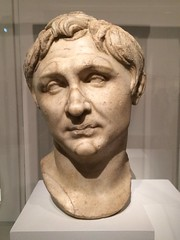 Ancient Rome. Portrait of Pompey, member of the First Triumvirate, 1st century BCE (mike catalonian) Tags: sculpture male bust marble pompey ancientrome 1stcenturybce triumvire