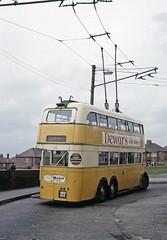 Newcastle trolleybus at Denton (TrainsandTravel) Tags: england angleterre denton trolleybus newcastleupontyne oberleitungsbus