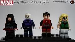 X-Men Secret 2nd Class: Sway, Darwin, Vulcan & Petra (Random_Panda) Tags: lego fig figs figures figure minifig minifigs minifigure minifigures characters character marvel comics superhero superheroes hero heroes super comic book books xmen x men