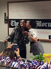 work wives 3 (tomsteele) Tags: tasha naheed office newsroom pictureofapicture kiss