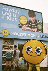 Payday Loans 4 Kids (Lapsang Photos) Tags: money film photography lomo lomography glastonbury payday glasto loans 2016 filmphotography