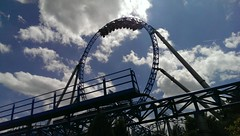 Blue Fire (asmoth360) Tags: europapark rust parcdattractions bluefire looping ciel nuages attraction rail train upsidedown